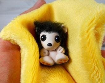 hedgehog charm kawaii pendant necklace pendant polymer clay hedgehog figure handmade
