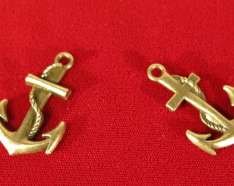 """5pc """"anchor"""" charms in antique bronze style (BC731)"""