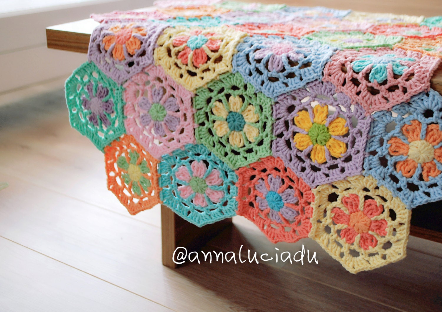 Crochet Flower Pattern Blanket : crochet flower blanket flower tablecloth crochet crochet
