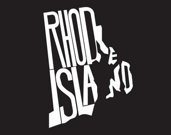 Custom Vinyl Rhode Island State Decal