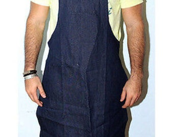 Blue Bib Jeans Denim Apron Work Commercial Protection Jewelry Hobby Watchmaker WA 600-033