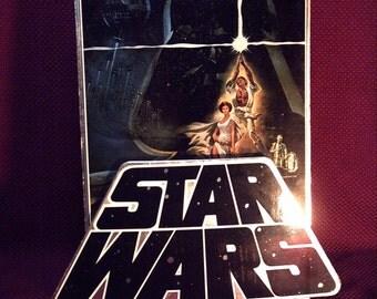 Star Wars Countertop Standee 3D Movie Display Rare / Extinct? (1982 - CBS FOX Video)