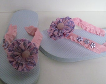 Rhinestone children Sandals Communion flip flops children's wedding flip flops children's wedding shoes