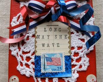 Military Keepsake Box * 4th of July Handmade * Patriotic * USA * OOAK Box * Memorial Day * American Flag * Veterans Day * CardsinStock