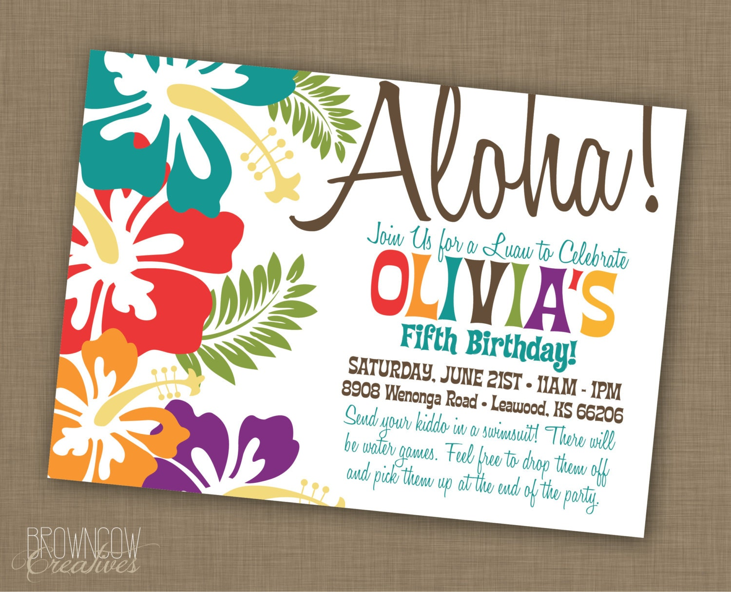 Tropical Themed Party Ideas Free Printables: PRINTABLE Luau Party Invitation