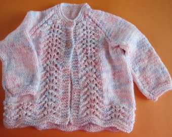 Hand knitted baby matinee coat - Ready to Ship