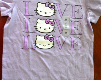 "Hello Kitty - Purple ""Hello Kitty"" Tee - Girls - Size 5t - New"