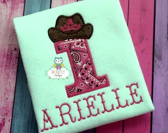 Princess Cowgirl Theme Girl Birthday Number Shirt or Bodysuit, Cowgirl Birthday Shirt, Cowgirl Birthday Party, Western Theme Birthday Party