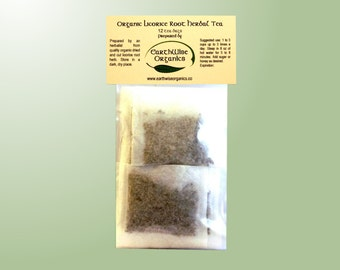 Licorice Root Tea Herbalist Prepared From Certified Organic Herbs