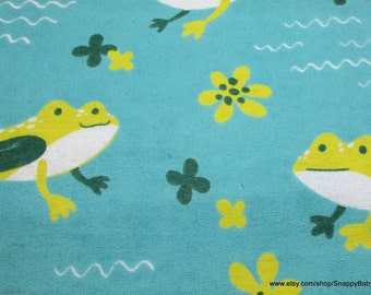 Flannel Fabric - Frogs - 1 yard - 100% Cotton Flannel