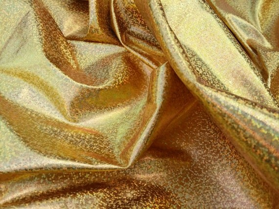 Gold holographic hologram Shiny foil iridescent by ... Iridescent Holographic Fabric