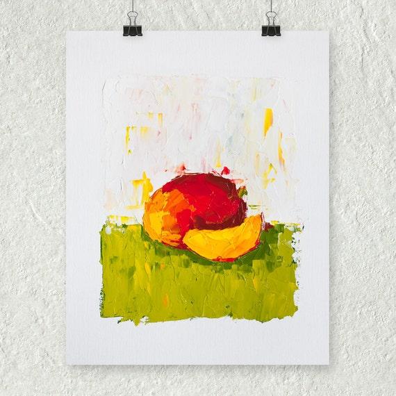 Colorful Kitchen Wall Art: Mango Painting Colorful Wall Art Kitchen Art Bedroom Wall