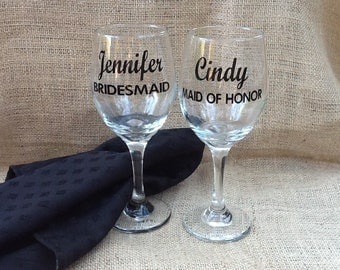 Wine Glass Decals Etsy - Diy vinyl decals for wine glasses