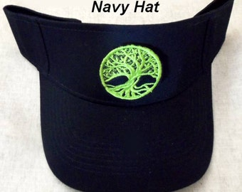 Wicca Sun Visor, Tree of Life, Pagan Clothing ,Wiccan Clothing,Celtic Clothing