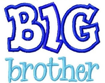 Big Brother -Lil Brother Applique Embroidery Designs -INSTANT DOWNLOAD-