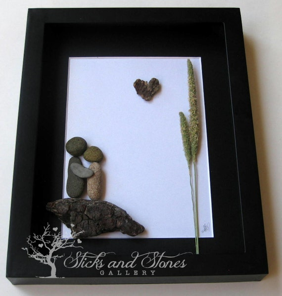 Unique Wedding Gifts Vancouver : Unique Couples Gift- Personalized COUPLES Gift- Pebble Art Gift ...