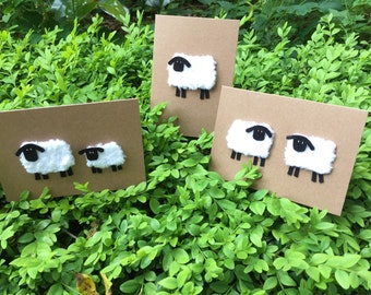 Knitted Sheep cards