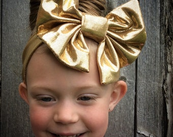 Metallic Floppy Bow