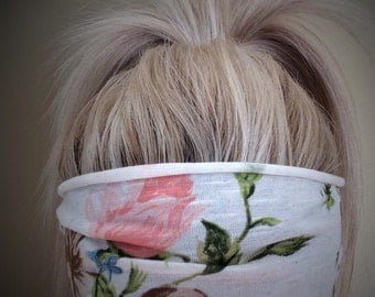 Ivory Floral Wide Band Wrap