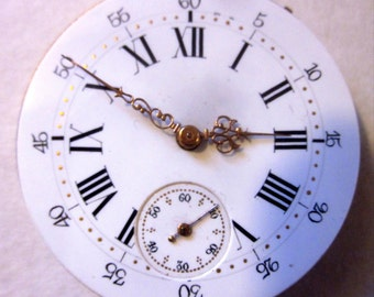 Antique FRENCH pocket watch face