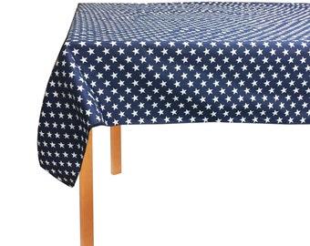ArtOFabric Decorative Cotton Patriotic Stars Tablecloth