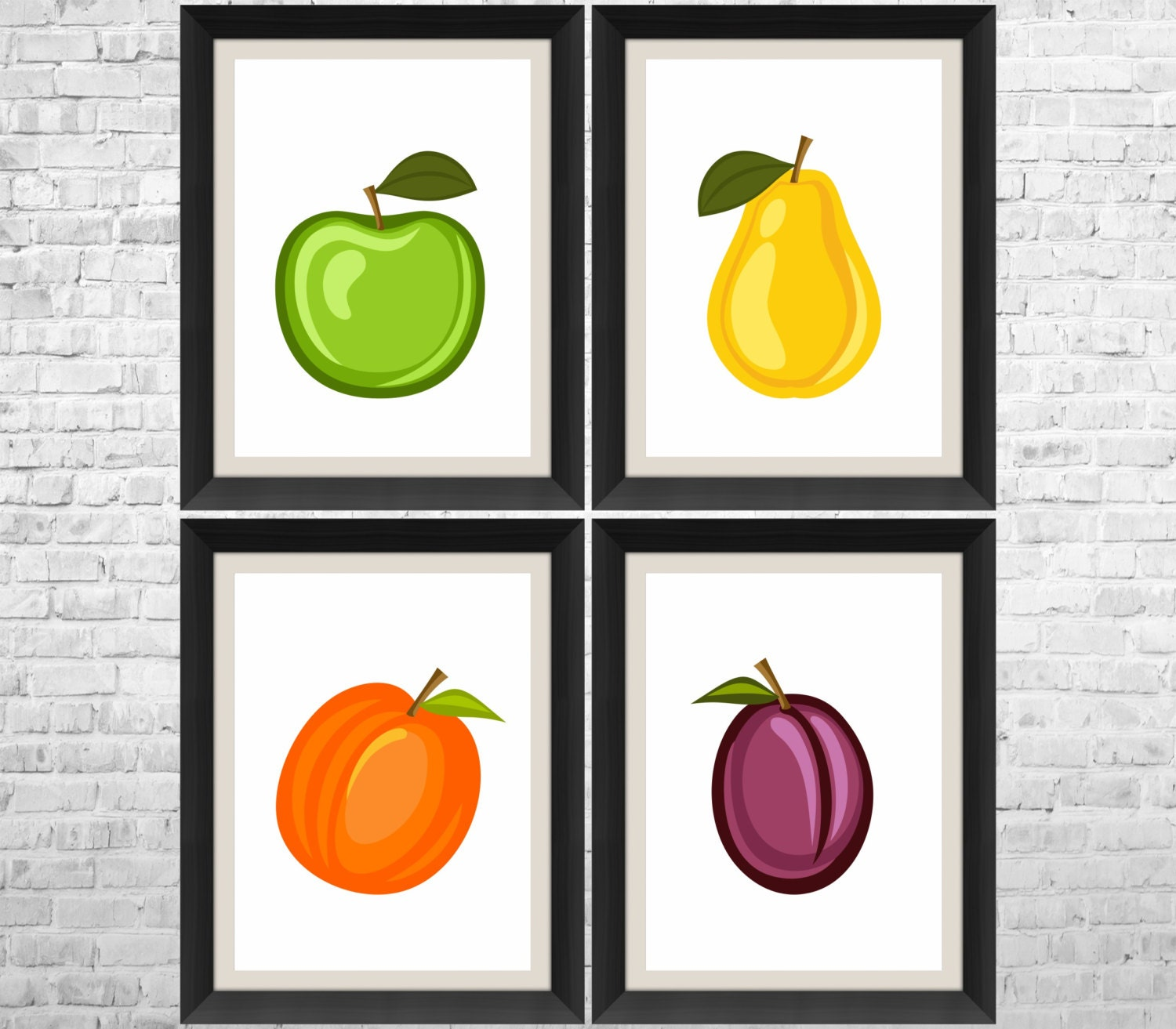 Fruits Print Fruit Decor Fruit Kitchen Art Kitchen By Anyprint