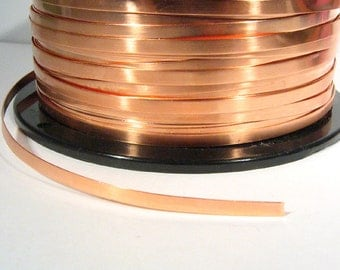 Copper Bezel Wire - 1/8 Inch - 24 Gauge - Choose Your Length