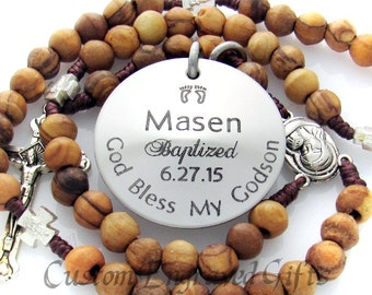 Buy Confirmation Gifts for Boy, Unique Personalized Custom Customized Catholic Rosary for Confirmation, First Communion, Baptism  Z1