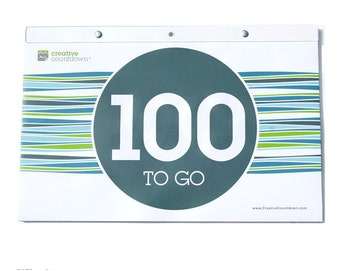 Wall Countdown Calendar, 100 to Go!  EXTRA LARGE