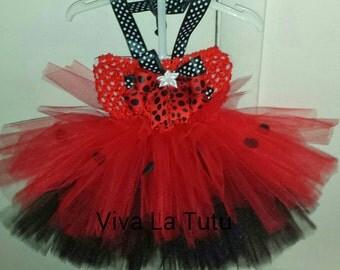 Love Bug Tutu Dress and Bow