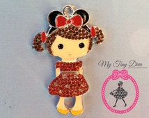 45mm Little Girl pendant  for chunky bubblegum bead necklaces