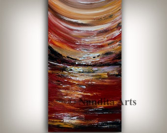 SALE Original Acrylic Abstract painting ABSTRACT PAINTINGS Modern Art for sale Large modern art 24x48 abstract art for sale fine art Nandita