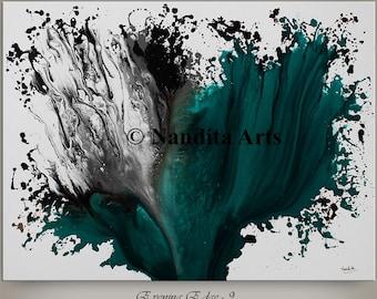 "Original Wall Art Abstract painting Turquoise Paintings Modern Art Canvas Art LARGE modern art 48"" abstract art sale fine art Nandita"