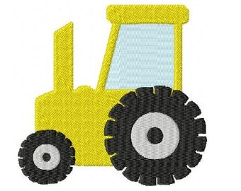Embroidery Design Tractor 4'x4' - DIGITAL DOWNLOAD PRODUCT