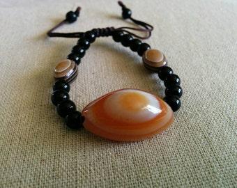 Carnelian polished stone bracelet
