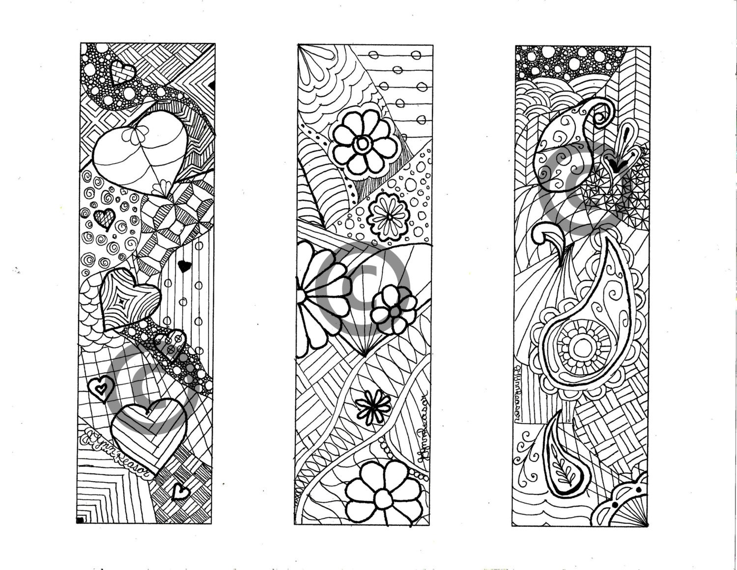 coloring pages of bookmarks - photo#10