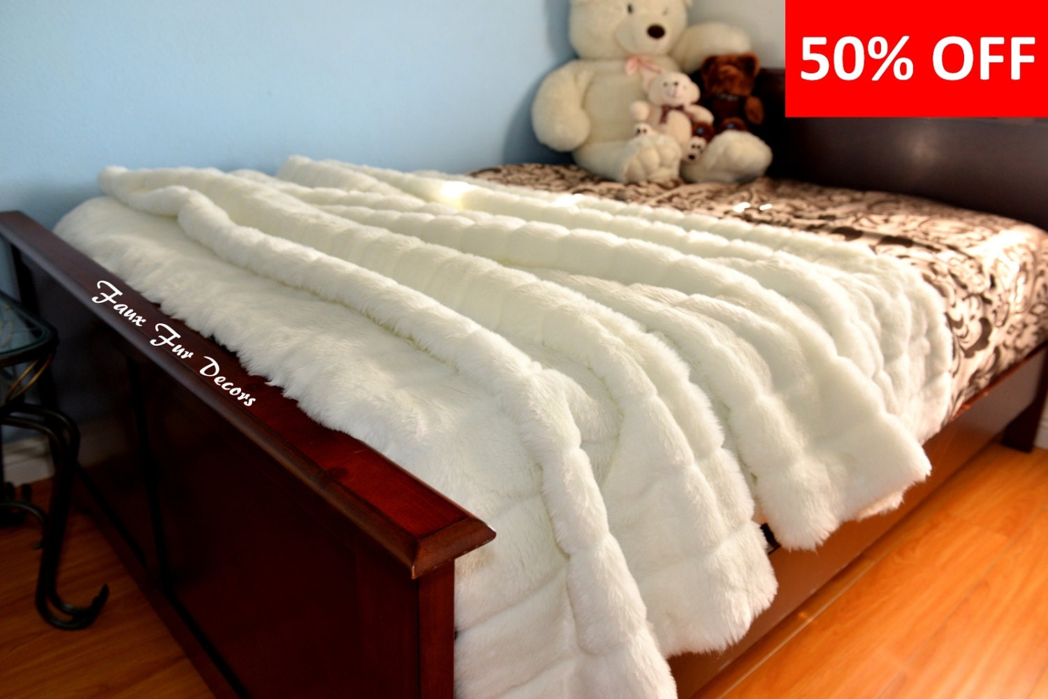 Faux Fur Throws Bedspread Coverlets Bedding Cover Home Decor
