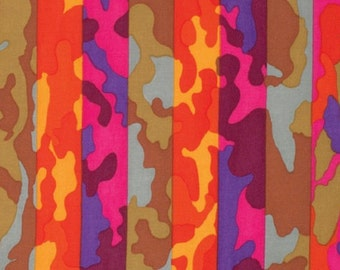 1/2 Yard - Stripe - Camouflage - Brandon Mably - Spring 2015 - Kaffe Fassett Collective - Rowan - Fabric Yardage - PWBM052.SUMME
