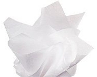White  Tissue Paper 24 Sheets 20 x 30 in. Great for gifts, gift bags, pom pom