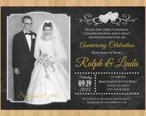 50th Anniversary Invitation, Printable 50th Wedding Anniversary ...