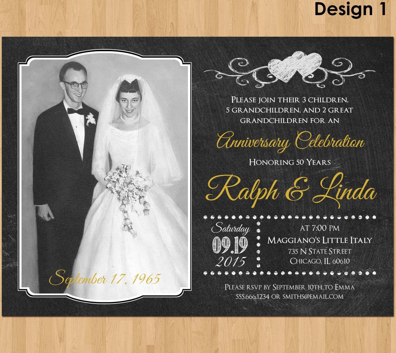 Th anniversary invitation printable wedding