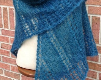 Teal Mohair Triangle