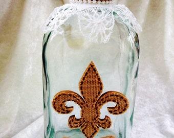 Gypsy/Boho Decorative Vintage Glass Bottle/Jar