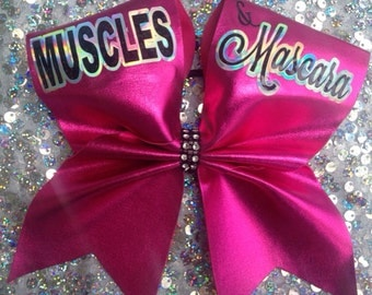 Muscles & Mascara cheer bow