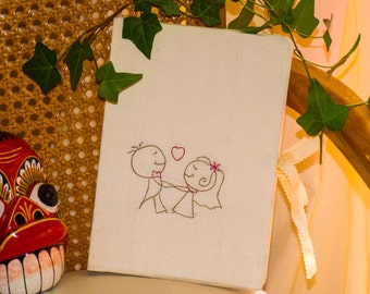 Wedding guest book, Aniversary guest book ,Couple holding hands