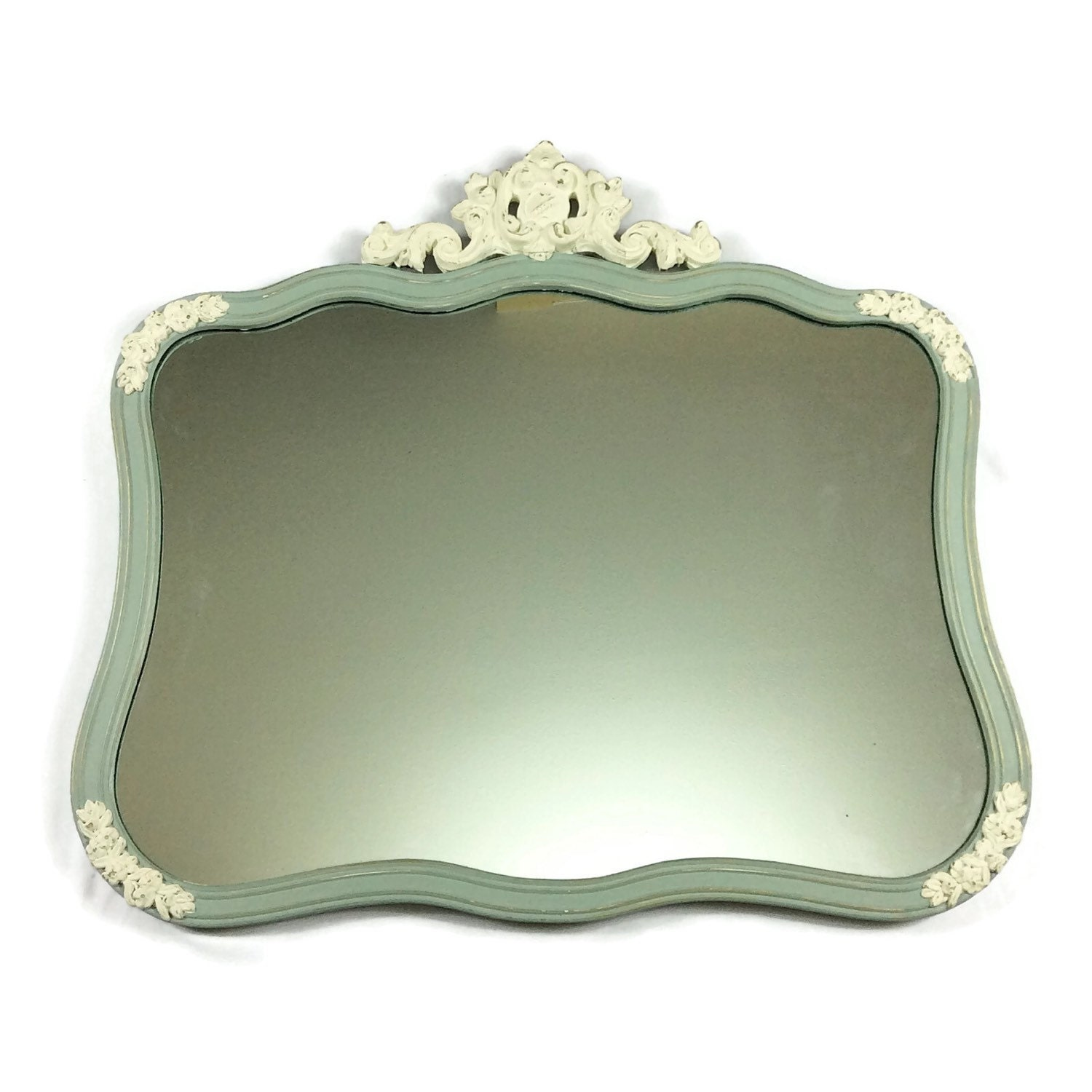 Mirror for sale large duck egg blue and white mirror for Large white mirrors for sale