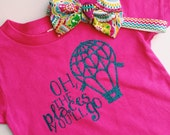 oh the places we will go hot air balloon infant/toddler T-shirt