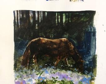 Composition studies for horse pieces. 150624_1328