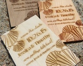 Save the Date Wedding Cards - Wedding Magnet Invite - Custom Wedding Tags - Wood Wedding Invitation
