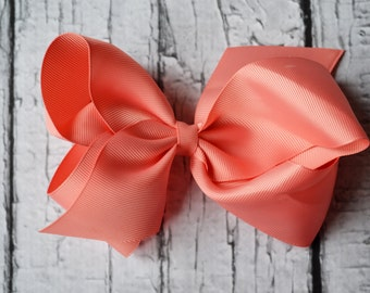 Coral Hairbow- Baby Girl- Hairbow